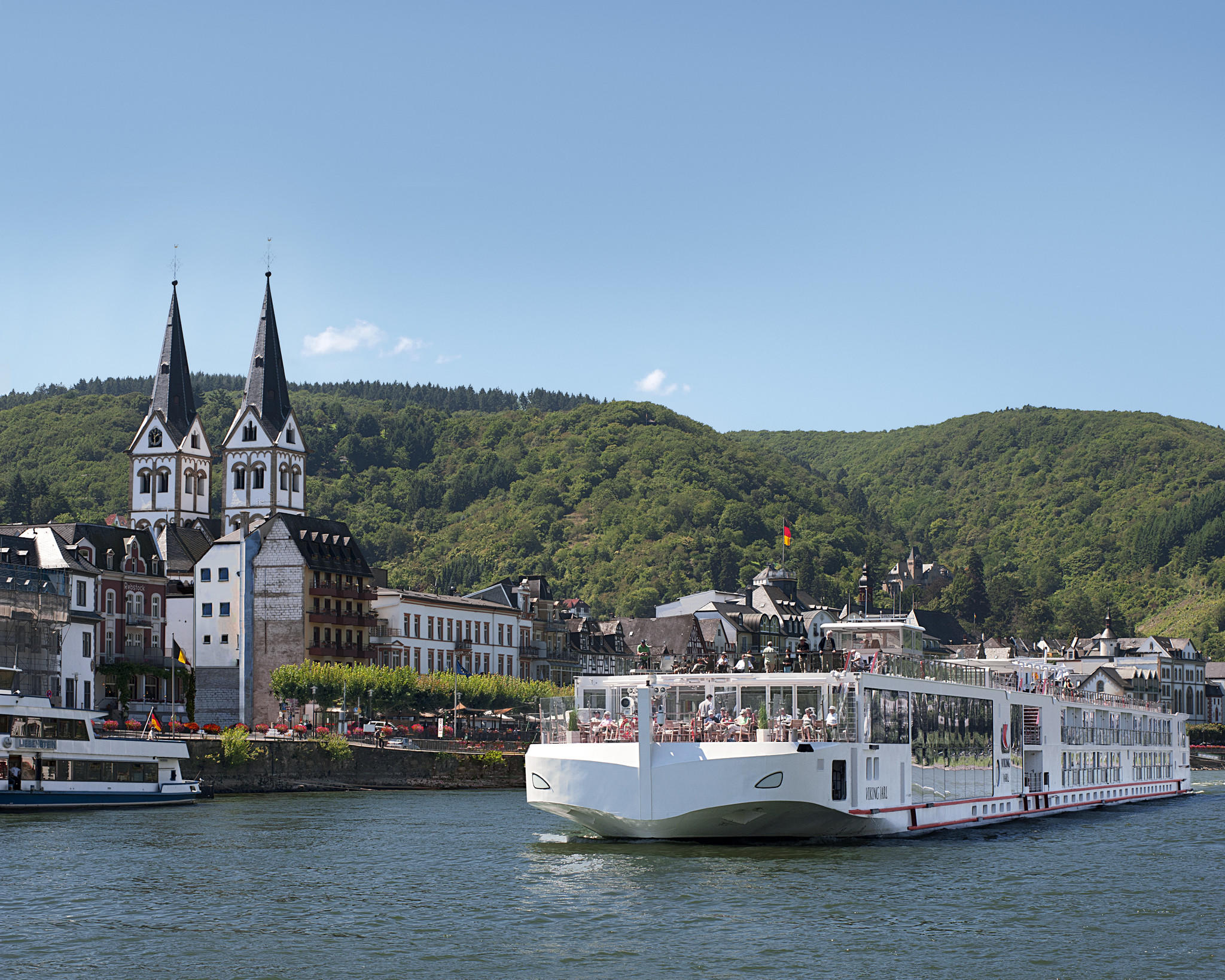 Viking's Jarl long ship cruises along the Rhine. The Jarl first sailed in July, and new vessels continue to join the Viking family, including a dozen in 2015.