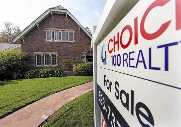 The typical credit score of an FHA borrower fell last year -- good news for first-time borrowers. Above, an L.A. home on the market.