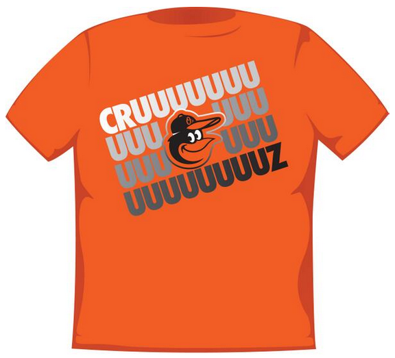 Each fan at the Orioles' May 13 game against Detroit will receive a Nelson Cruz T-shirt.