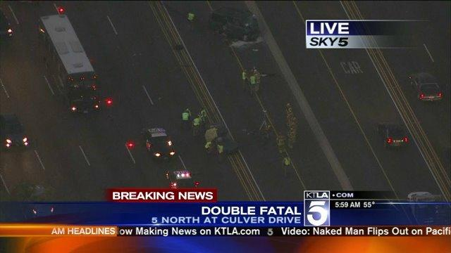 Double Fatal Crash Shuts Down Lanes on 5 Freeway in Irvine