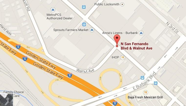 A motorist was leaving the shopping center at Walnut Avenue and San Fernando Boulevard and reportedly struck an 87-year-old woman, who was crossing the driveway just before 9 a.m. Thursday, April 24.