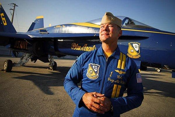 Capt. Gregory McWherter, shown in a file photo, was commander and flight leader of the Blue Angels for two tours. Now he has been relieved of duty amid allegations of sexual harassment.