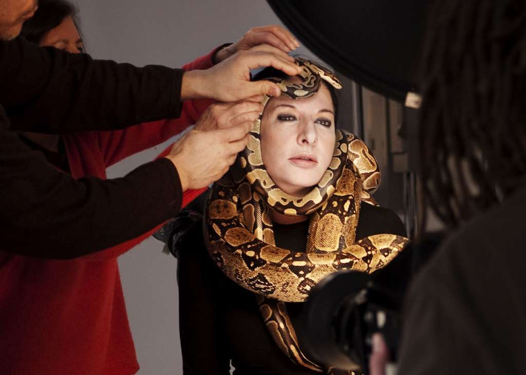"""Marina Abramovic in a scene from the documentary """"Marina Abramovic: The Artist Is Present."""""""