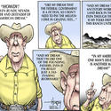 Crackpot Cliven Bundy waves the flag and flouts the law