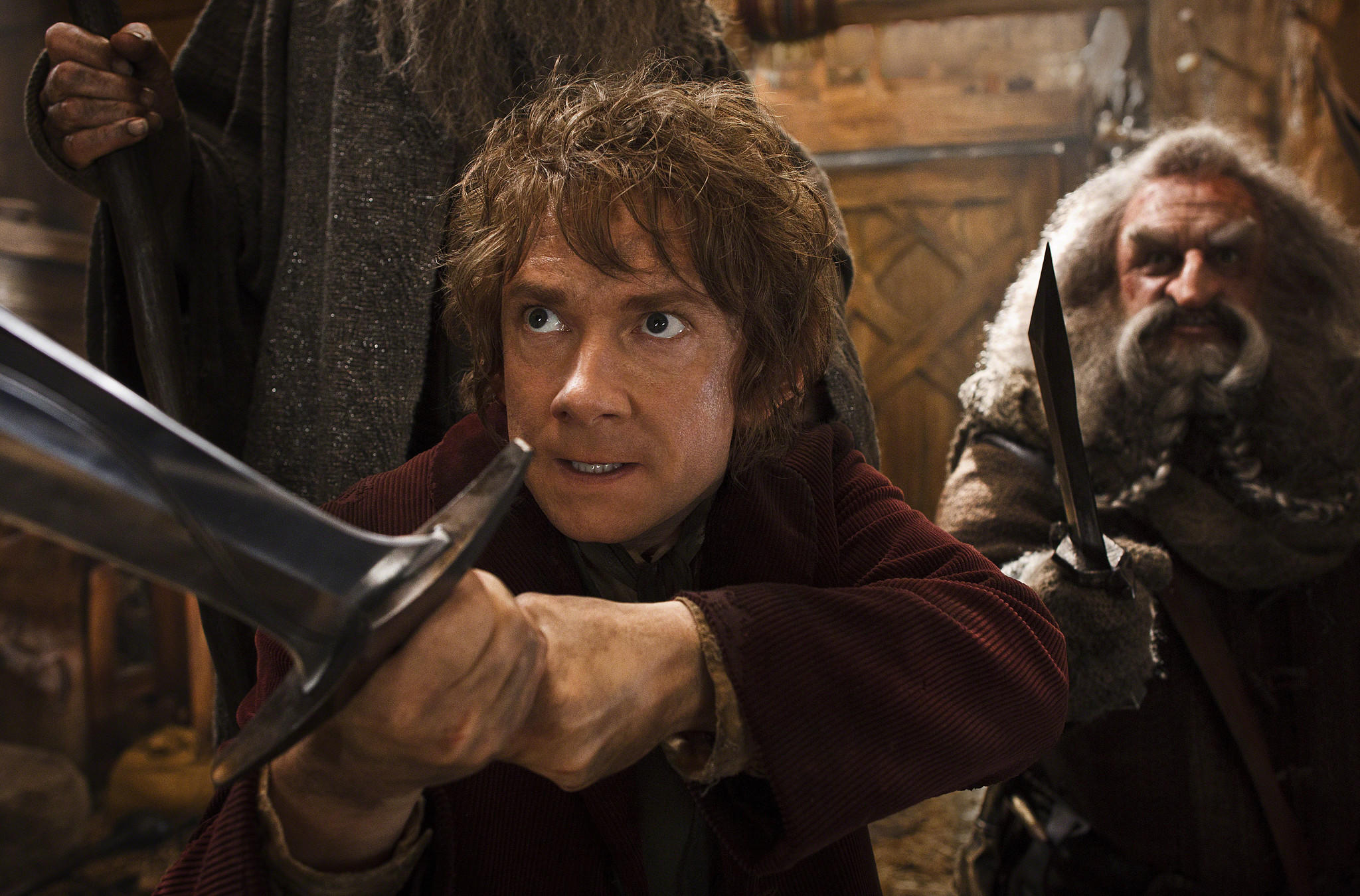 "Martin Freeman and John Callen in ""The Hobbit: The Desolation of Smaug,"" the second in the trilogy."