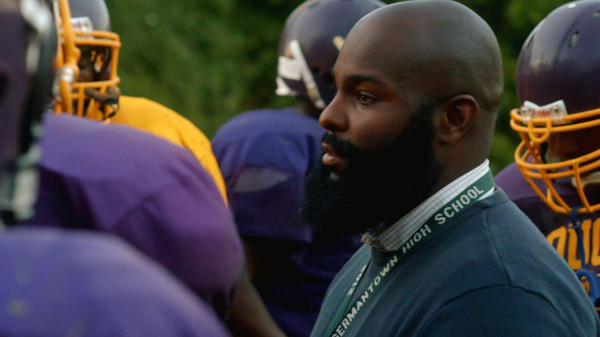 "Coach Ed Dunn in a scene from the movie ""We Could Be King."""