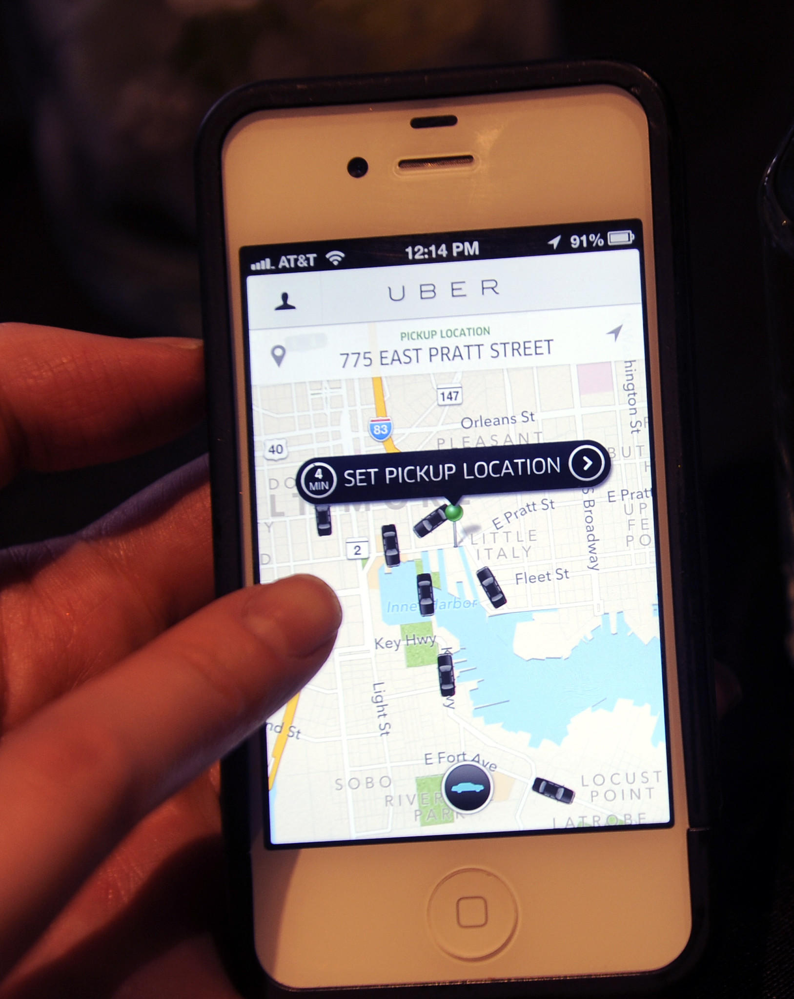 Uber allows users to request a car and pay for it via a mobile app.