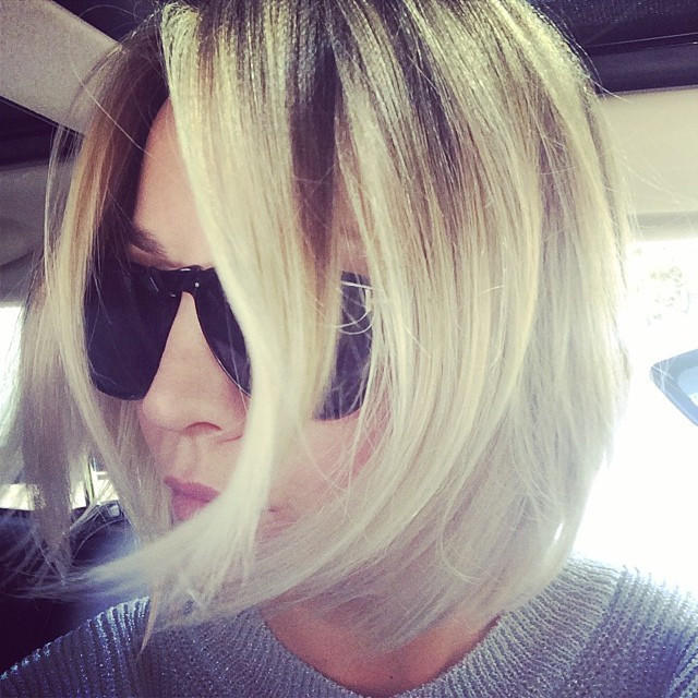 Kaley Cuoco debuted her new haircut on Instagram.