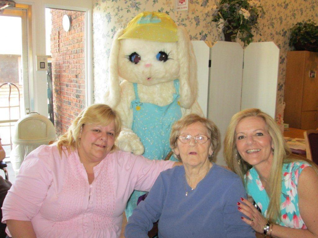 Parkway Resident Mary Oliver, center, with her daughters Denise Olivieri, left, and Cindy Jevins, right.