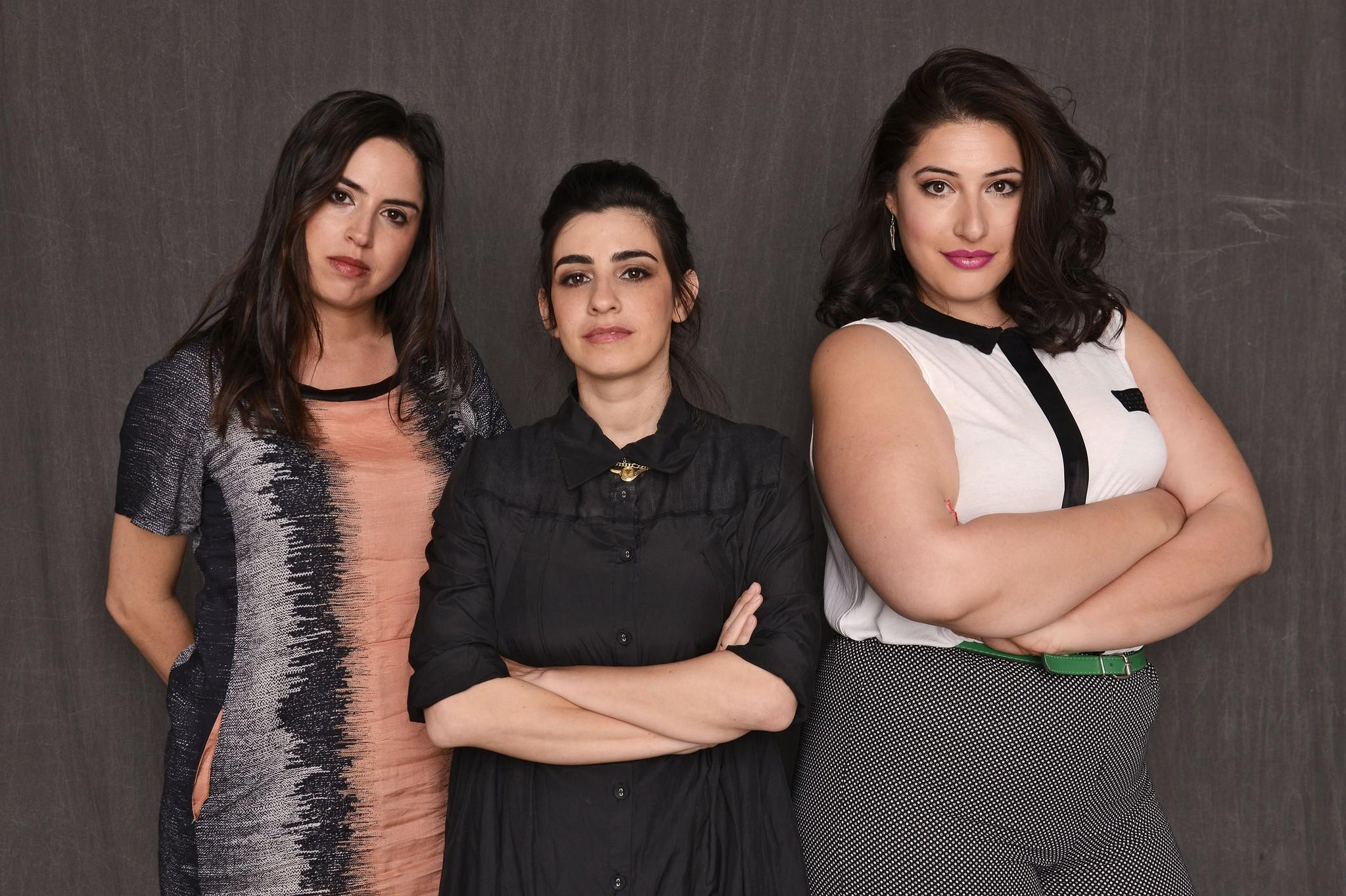 """""""Zero Movitation"""" director Talya Lavie, left, and actresses Dana Ivgy and Shani Klein are seen at the 2014 Tribeca Film Festival."""