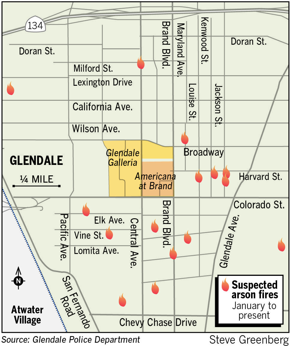 Police have received no leads in their investigation of a number of fires in Glendale after putting out a request to the community to call in with any tips.