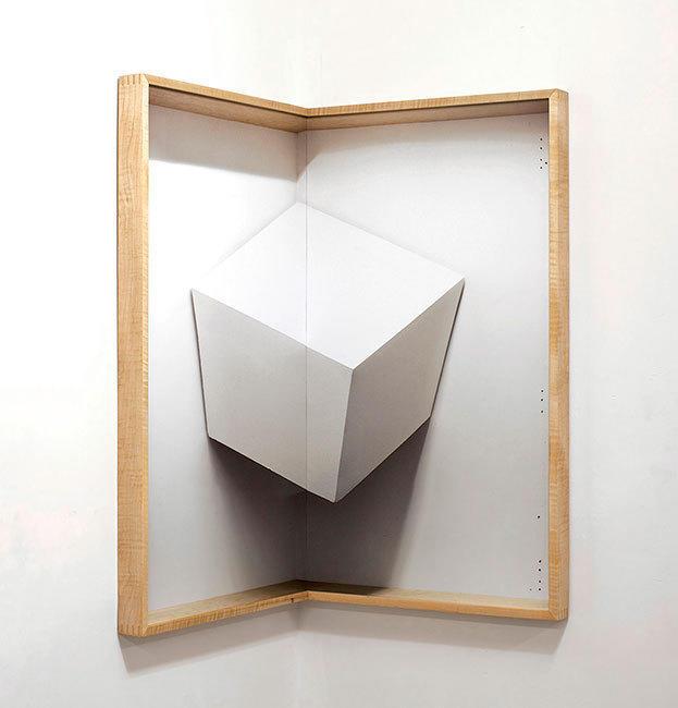 "Chris Engman's ""Corner Cube"" is at Luis De Jesus gallery."