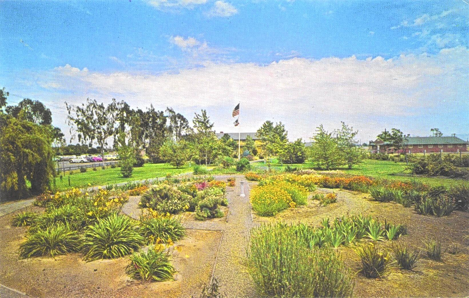 A local group is calling on the Orange County Fair Board to rebuild a veterans memorial garden at the fairgrounds. The Orange County Memorial Garden Center, shown here in the 1950s, was a 1.4-acre facility at the fairgrounds that was torn out in the early 1980s to make room for the Pacific Amphitheatre.