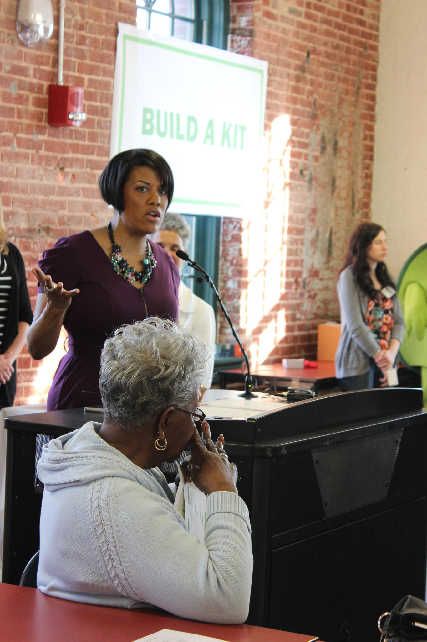 The Baltimore Office of Sustainability held a event Tuesday to teach city residents about emergency preparedness. Residents were provided advice, plans and free emergency kits at the event, which was attended by Mayor Stephanie Rawlings-Blake.