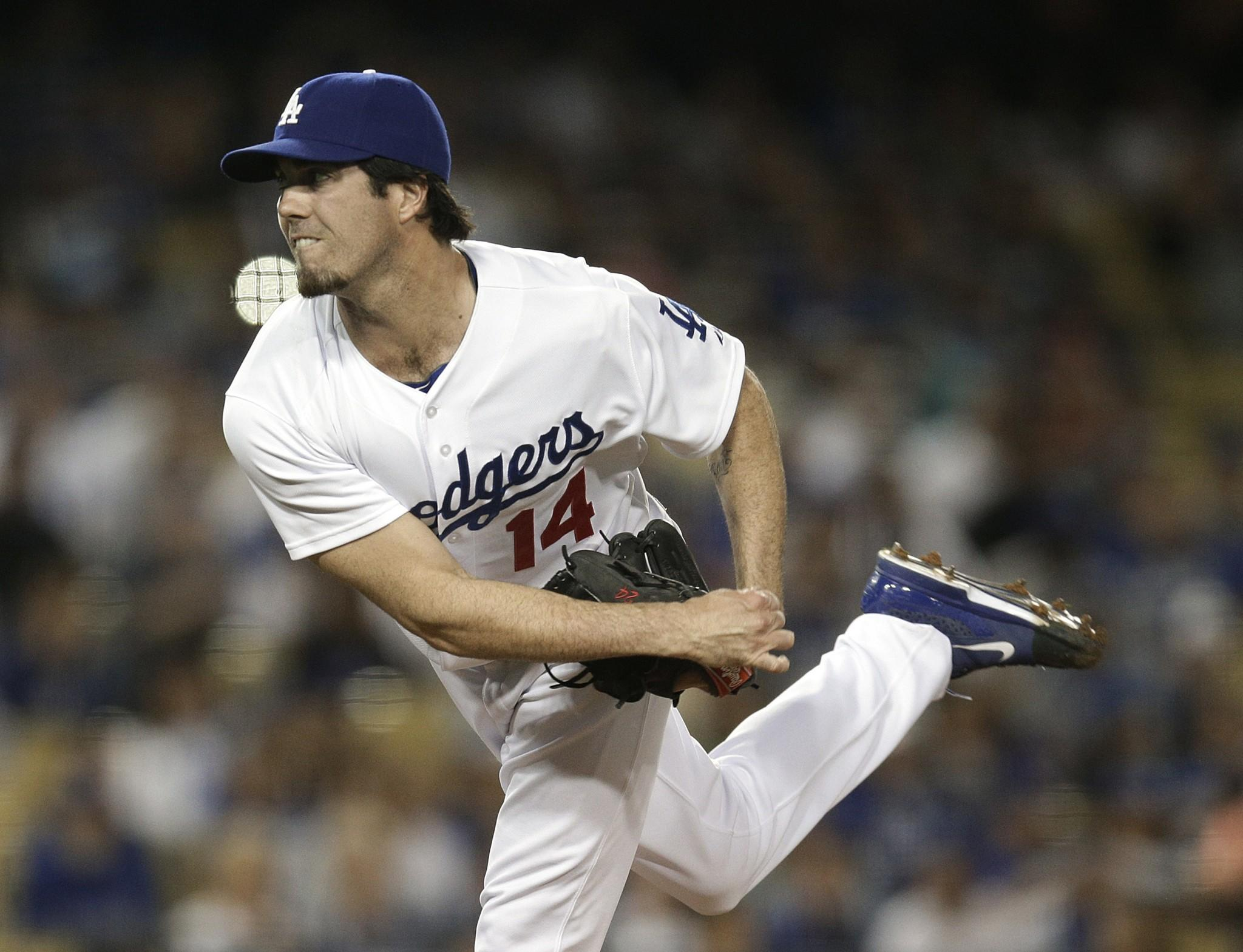 Dan Haren struck out seven batters while giving up one earned run on seven hits and two walks over six innings for the Dodgers on Thursday. The Dodgers lost to the Philadelphia Phillies, 7-3.