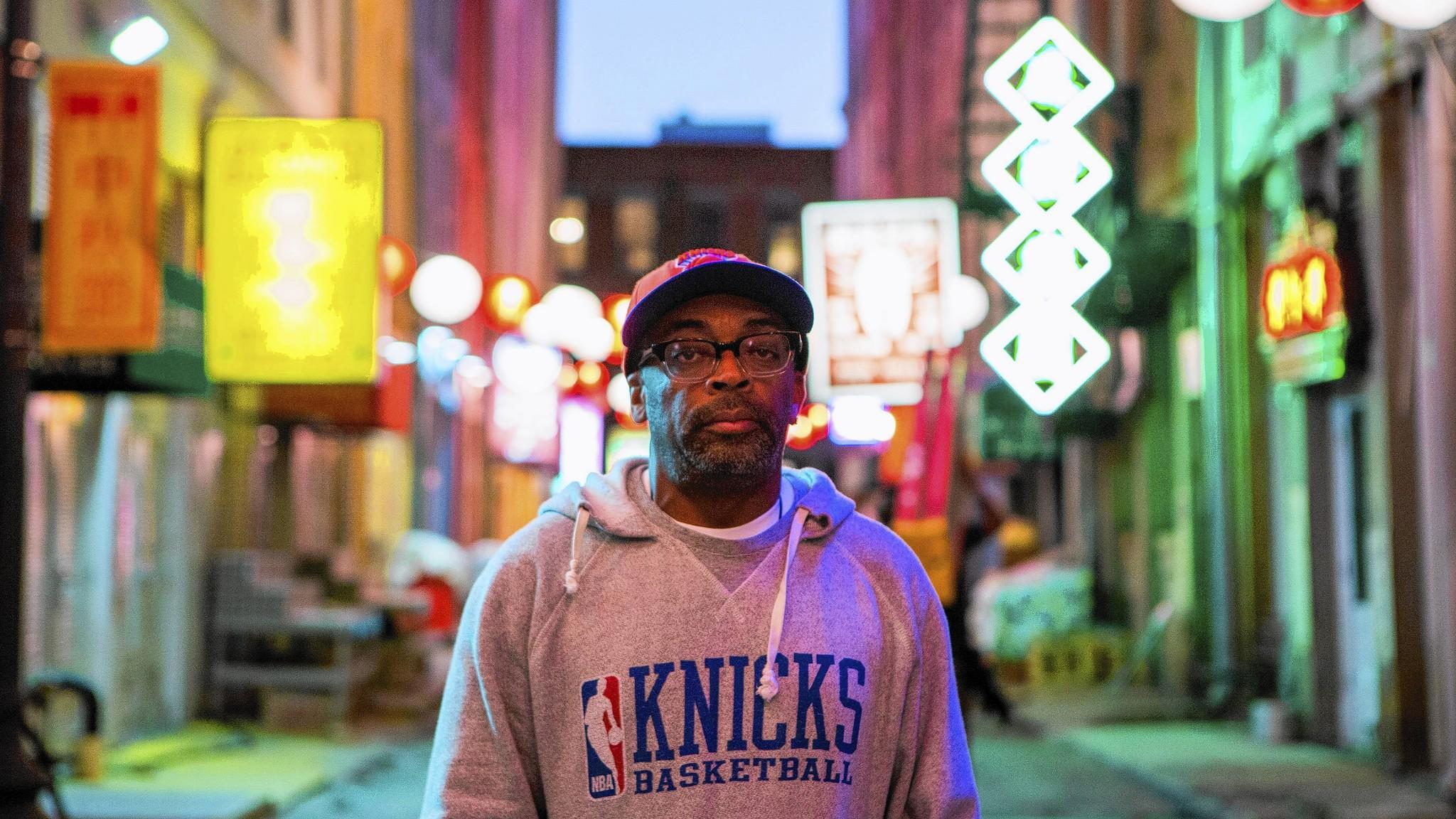 """Director Spike Lee stands on the set of """"Oldboy."""""""