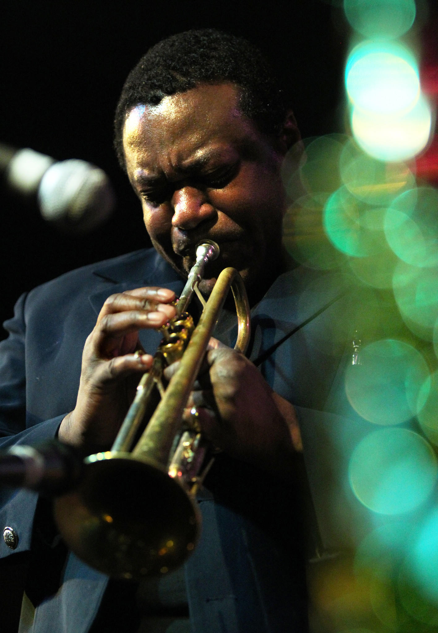 Trumpet player Wallace Roney performs at Jazz Showcase in Chicago.