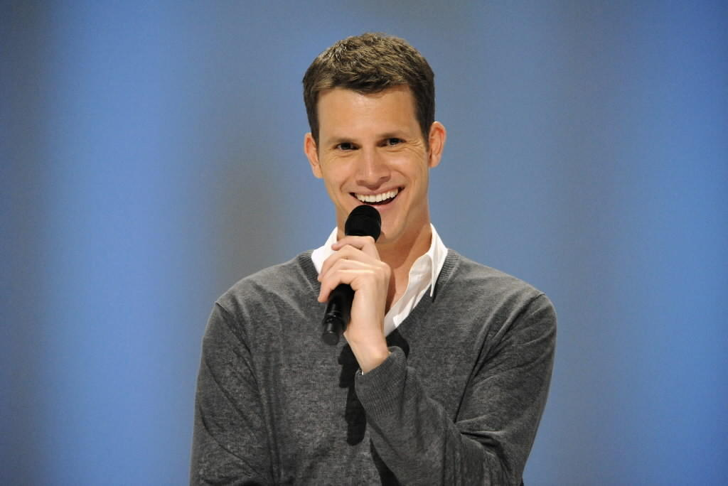"""Comedian Daniel Tosh performs on Comedy Central's """" Daniel Tosh: Happy Thoughts"""" at the Yerba Buena Center for the Arts June 12, 2010 in San Francisco, Calif."""