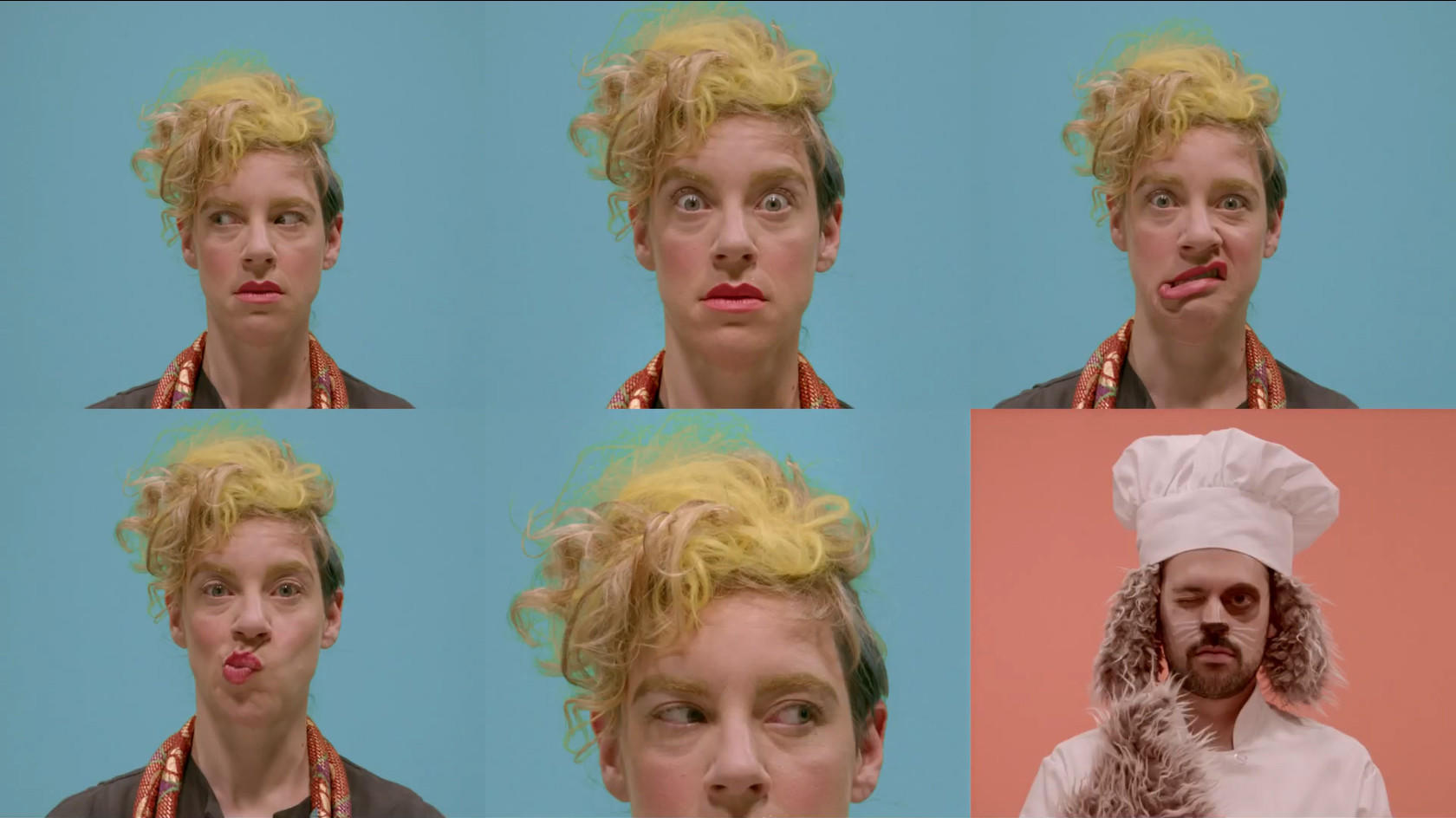 """Merrill Garbus of Tune-Yards in a still from her new video for """"Water Fountain."""""""