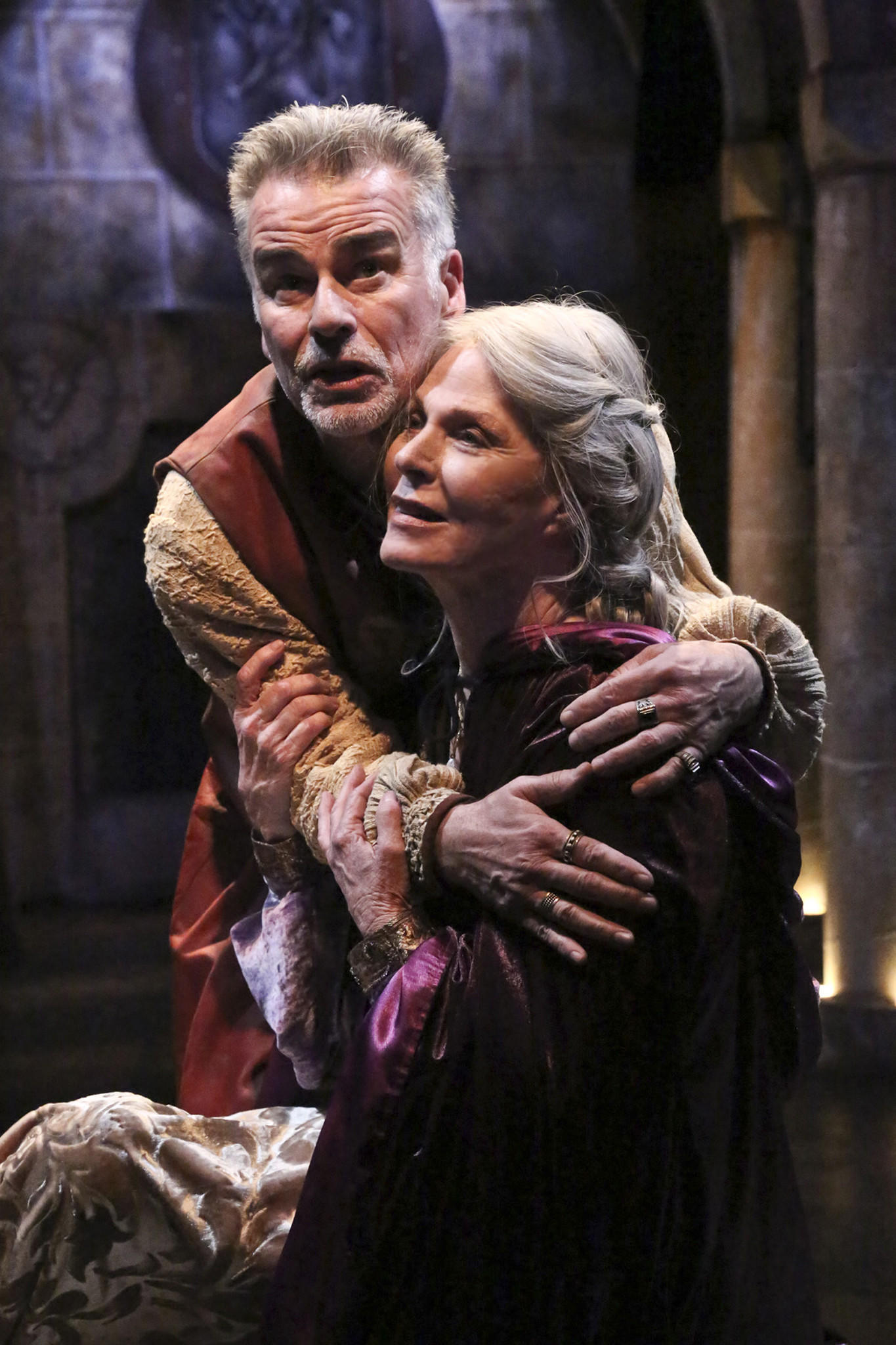 """Ian Buchanan and Mariette Hartley play the tempestuous royal couple Henry II and Eleanor of Aquitaine in """"The Lion in Winter"""" at the Colony Theatre."""