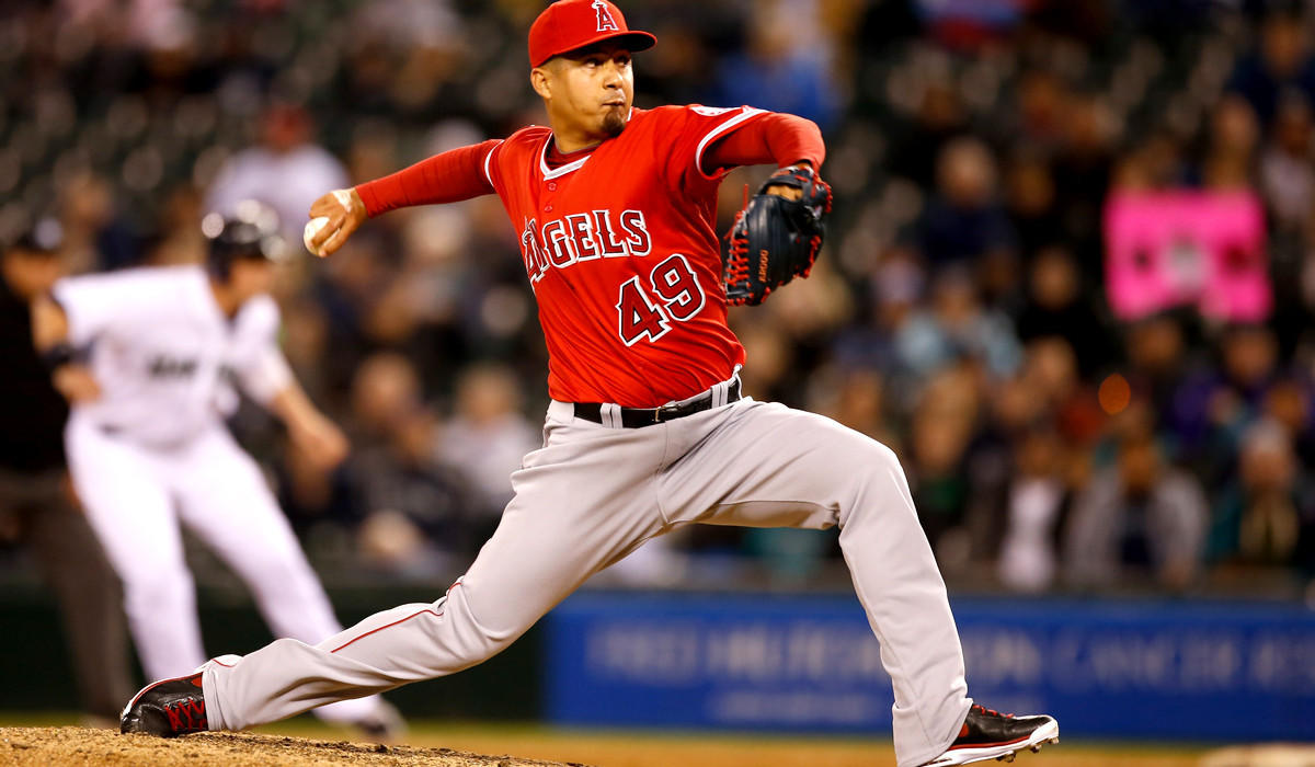 Angels reliever Ernesto Frieri is 0-2 with a 9.35 earned-run average, five homers given up and two blown saves in 10 appearances.