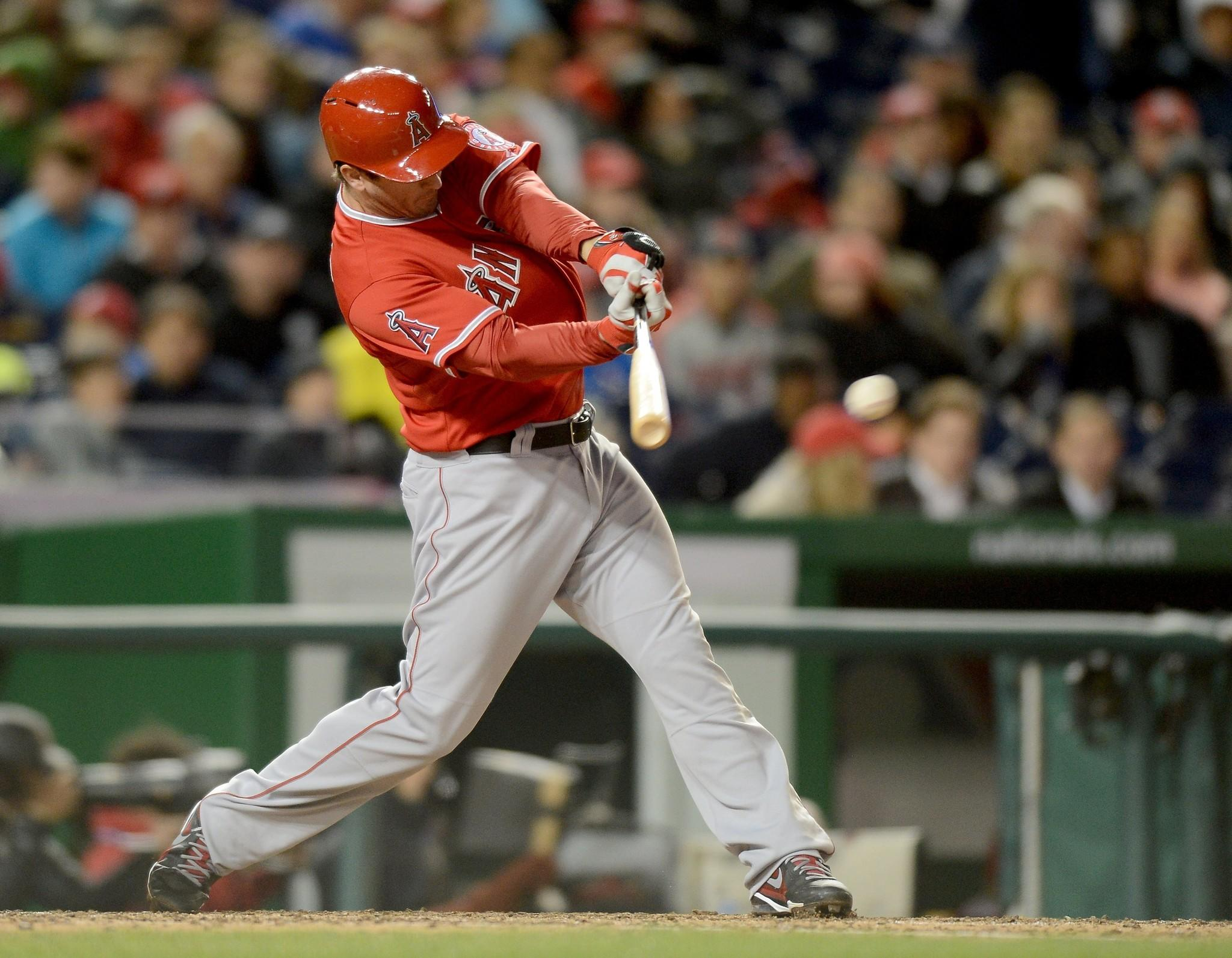 Angels third baseman David Freese has struggled at the plate this season, hitting .145 with one home run and 20 runs batted in.