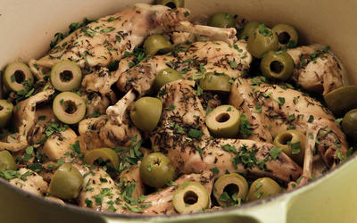 Italian braised rabbit