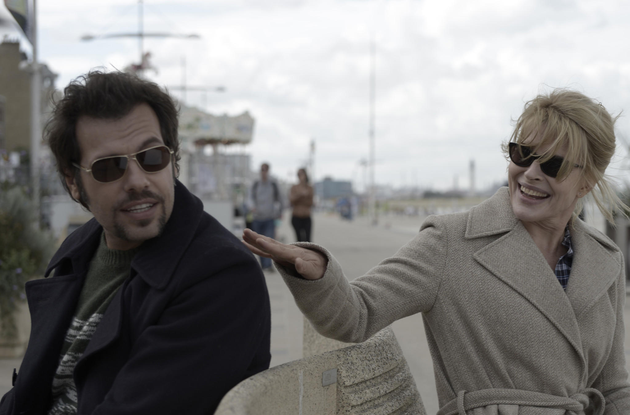 "Laurent Lafitte and Fanny Ardant in ""Bright Days Ahead."""