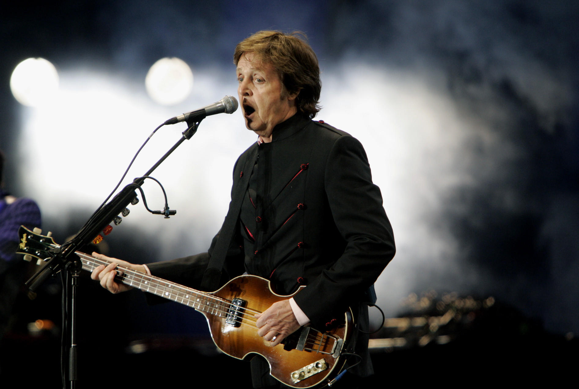 Paul McCartney at the Hollywood Bowl in 2010.