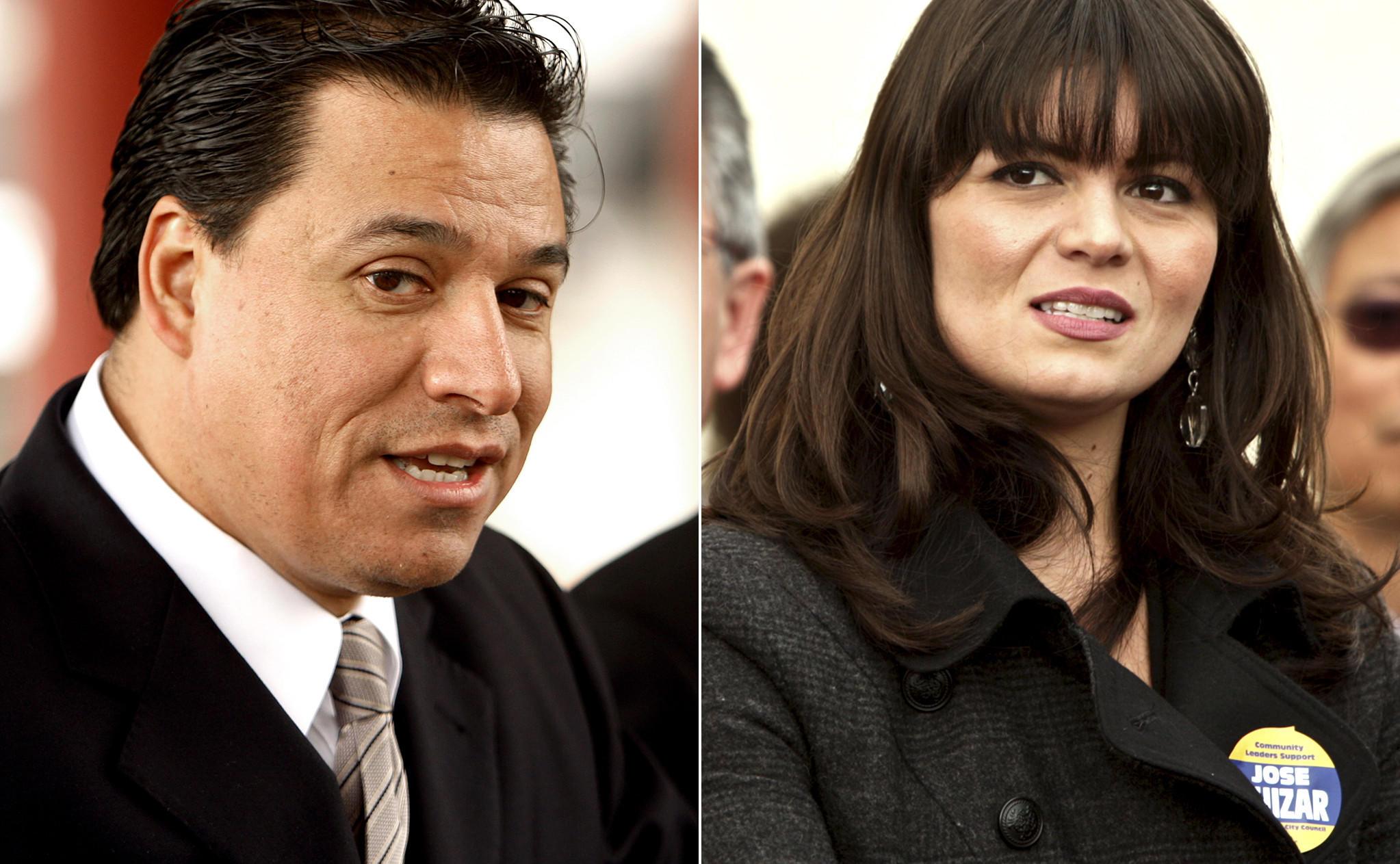 Los Angeles City Councilman Jose Huizar and Francine Godoy, his former deputy chief of staff.