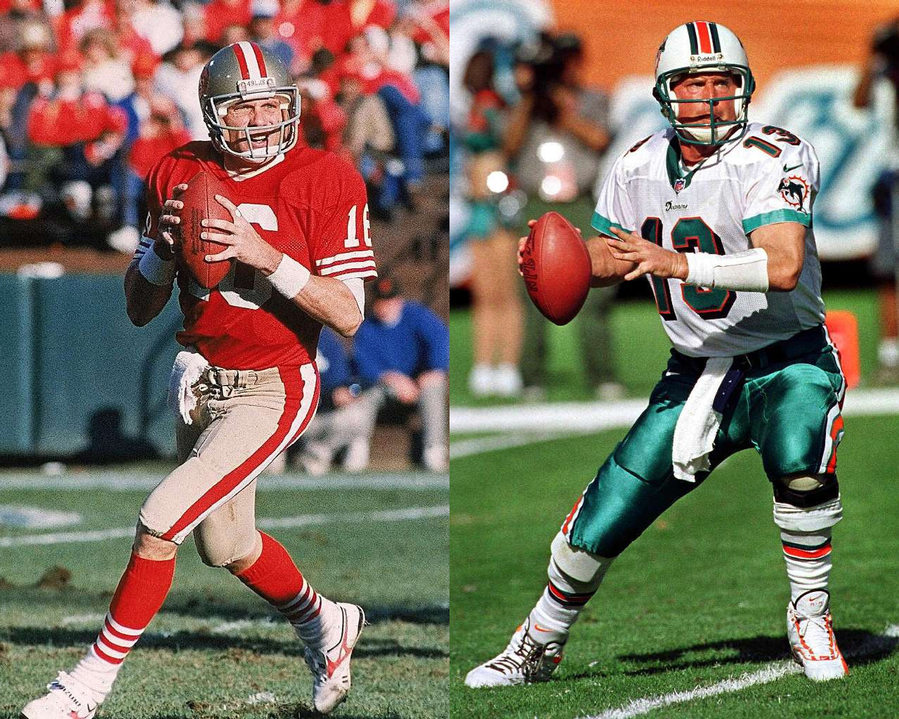 Dan Marino Wallpaper Joe Montana Dan Marino to