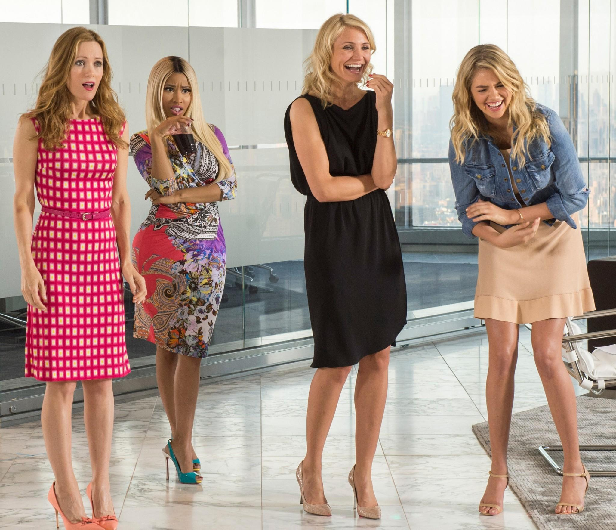 "Leslie Mann, left, Nicki Minaj, Cameron Diaz and Kate Upton in ""The Other Woman."""