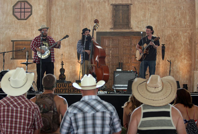 The Howlin' Brothers perform on the Mustang Stage on opening day of the three-day Stagecoach Country Music Festival at the Empire Polo Fields in Indio.
