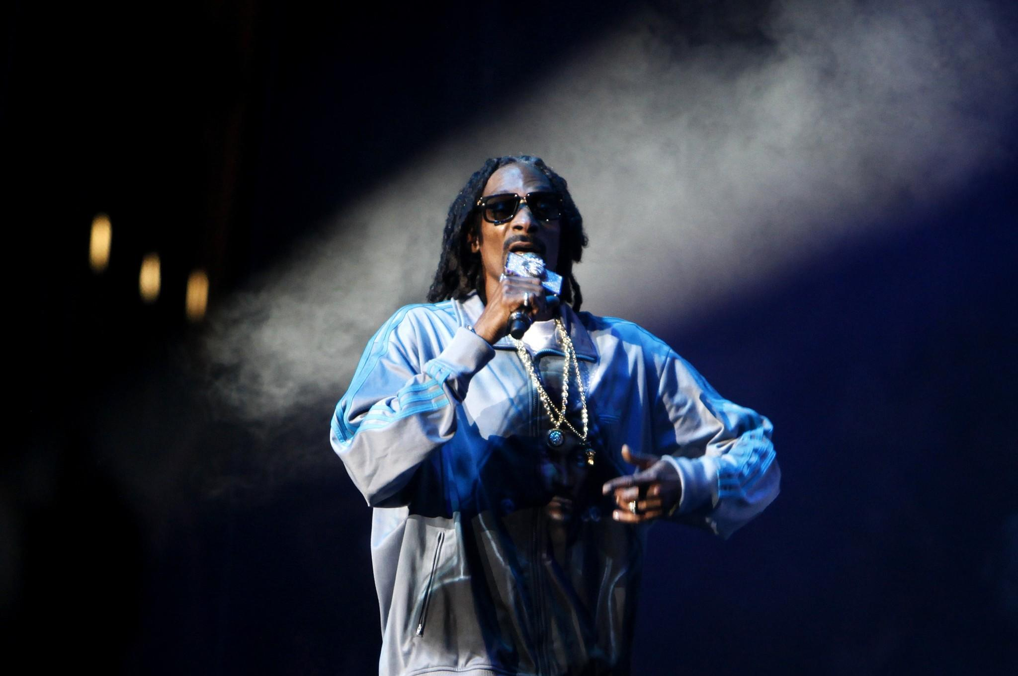 Snoop Dogg onstage at Staples Center in 2013.