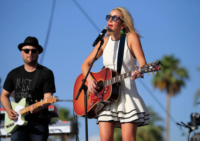 Ashley Monroe performs Saturday afternoon at the Stagecoach Country Music Festival in Indio.