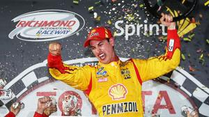 Joey Logano's late surge wins wild Toyota Owners 400 at Richmond