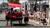 Wacky Bed Race Rolls Down Key West Street