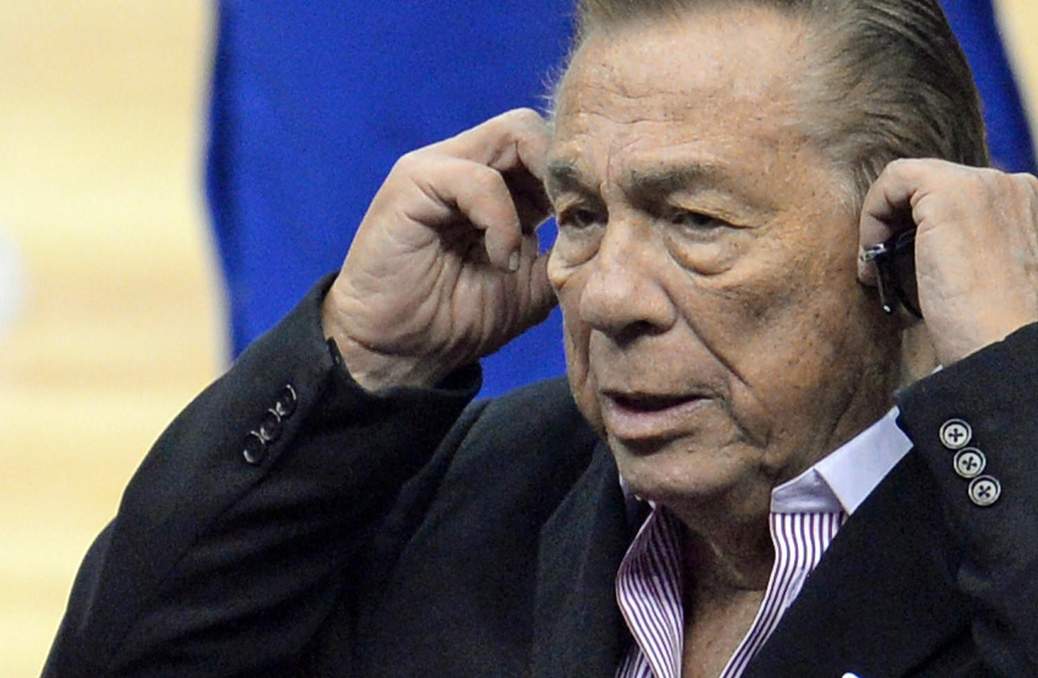 Los Angeles Clippers owner Donald Sterling attends the NBA playoff game between the Clippers and the Golden State Warriors last week.
