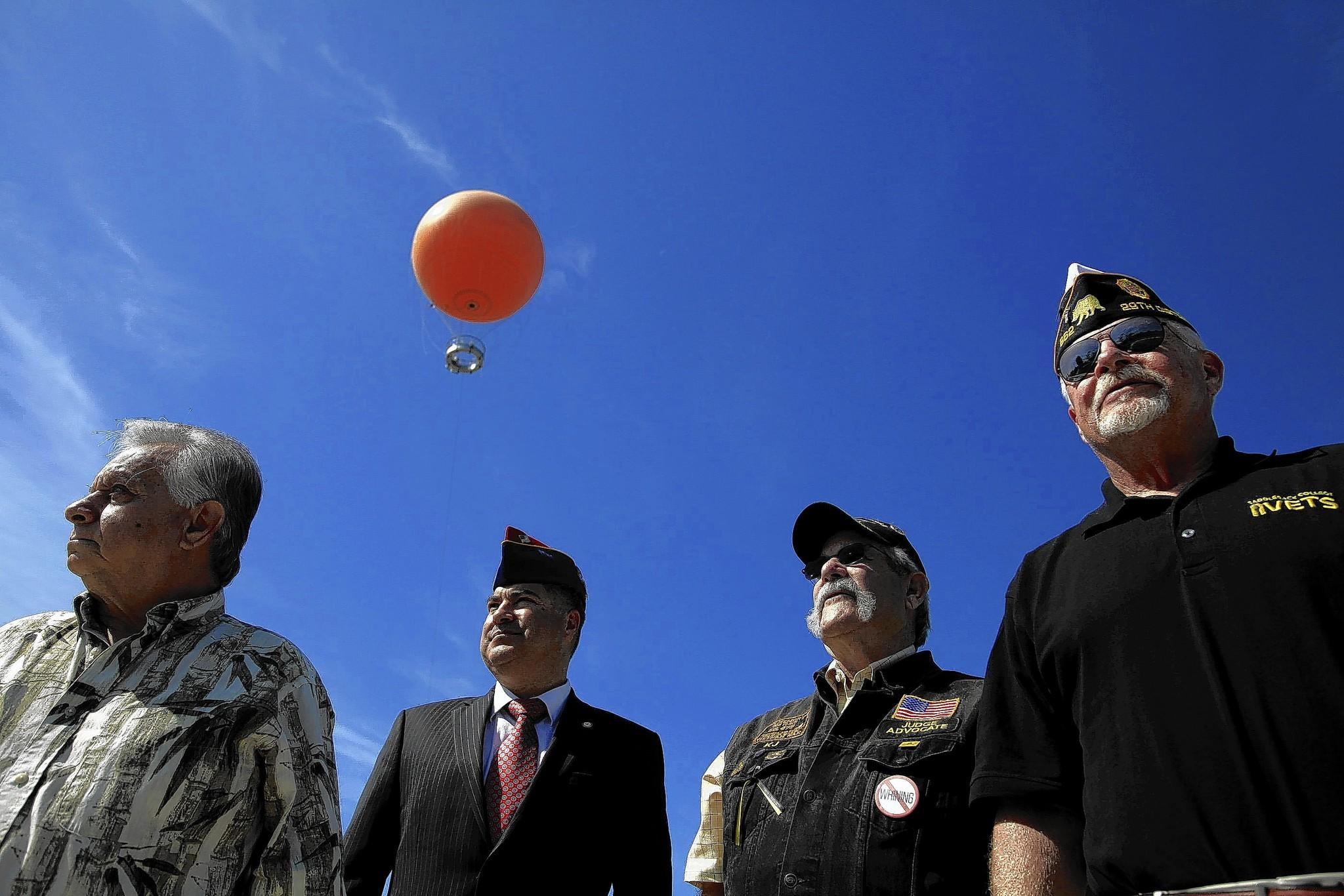American Legion Chaplain Bill Cook, right, is leading the charge for a veterans cemetery at the former Marine Corps Air Station El Toro. Pictured with him are, from left, Zeke Hernandez, Alex Diaz and Ken Jackson.
