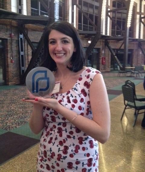 """""""Saturday Night Live"""" writer Katie Rich was given the Margaret Wiley Carr Bright Horizons Award during Planned Parenthood's Generations Celebration April 23, 2014 at Navy Pier."""