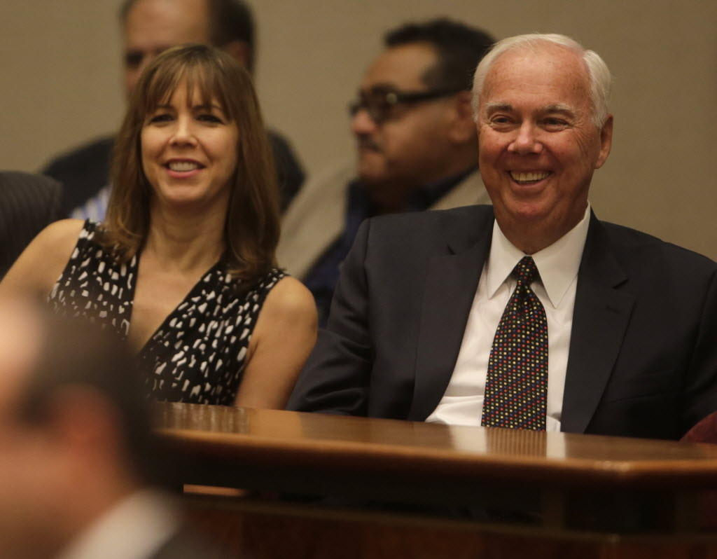 Former Ald. Dick Mell has started a lobbying firm with the help of daughter Patti Blagojevich. Here, the two are seen at a September 2013 City Council meeting.