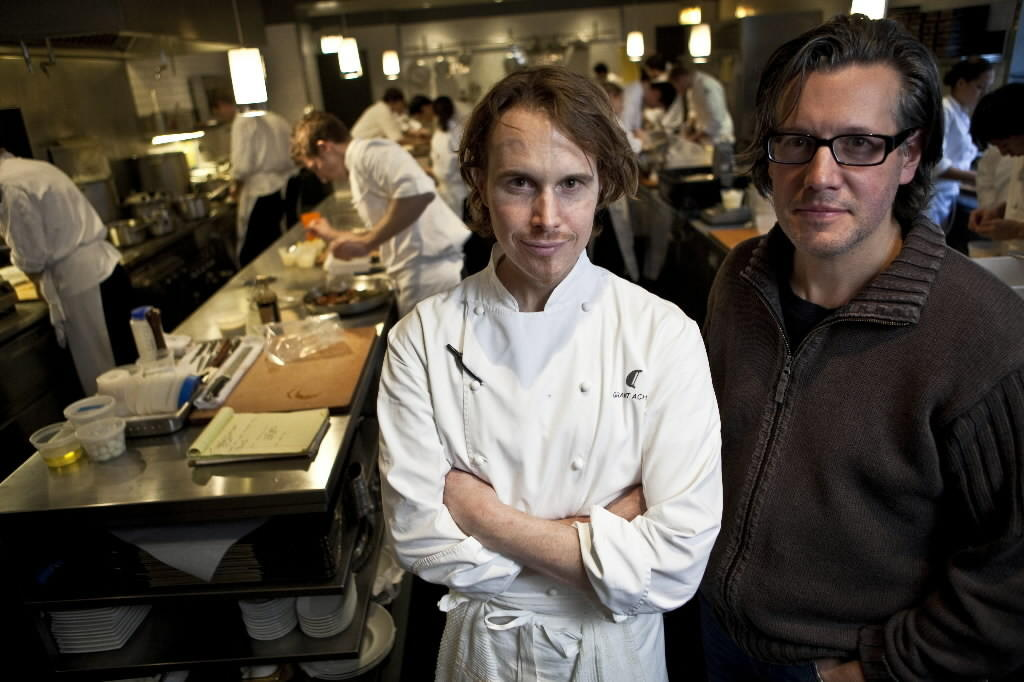 Alinea, owned by Grant Achatz (center) and Nick Kokonas (right), is ranked No. 9 in the 2014 World's 50 Best Restaurants list. Zbigniew Bzdak | Chicago Tribune