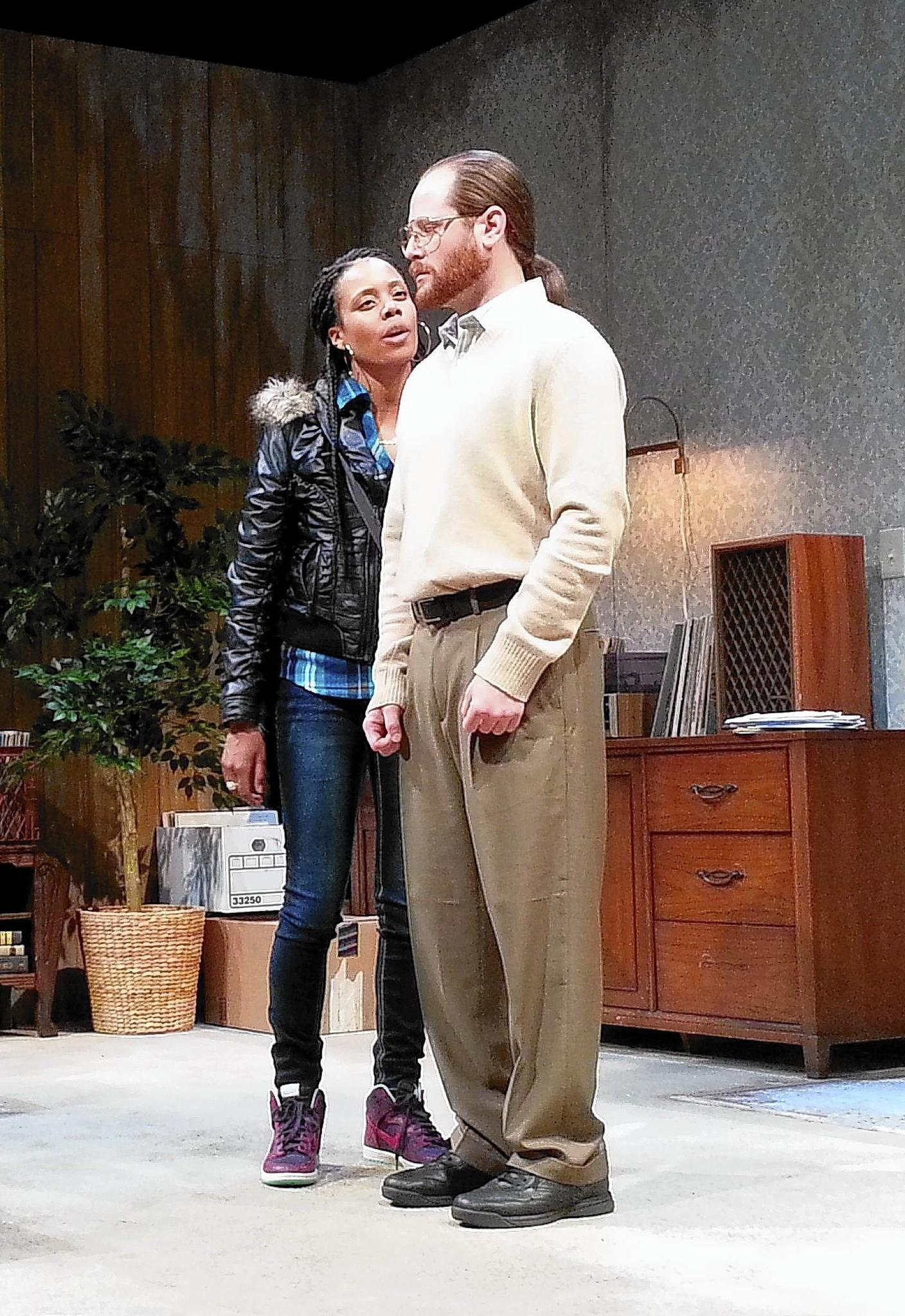 "Christina Elmore and William Apps in the world premiere of ""The Purple Lights of Joppa Illinois"" by Adam Rapp at South Coast Repertory."
