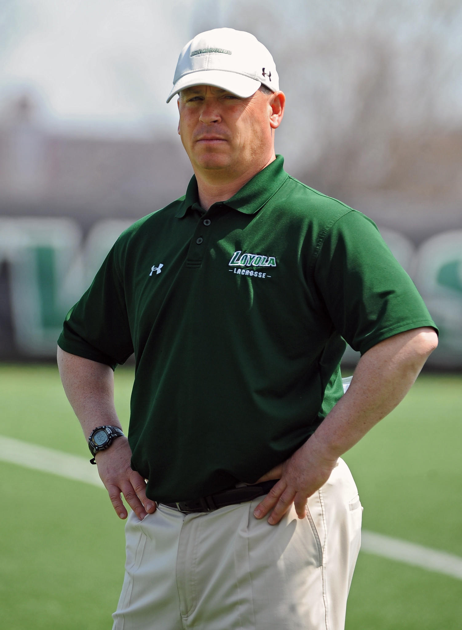 Loyola coach Charley Toomey is pictured before his team played Boston college on April 12.