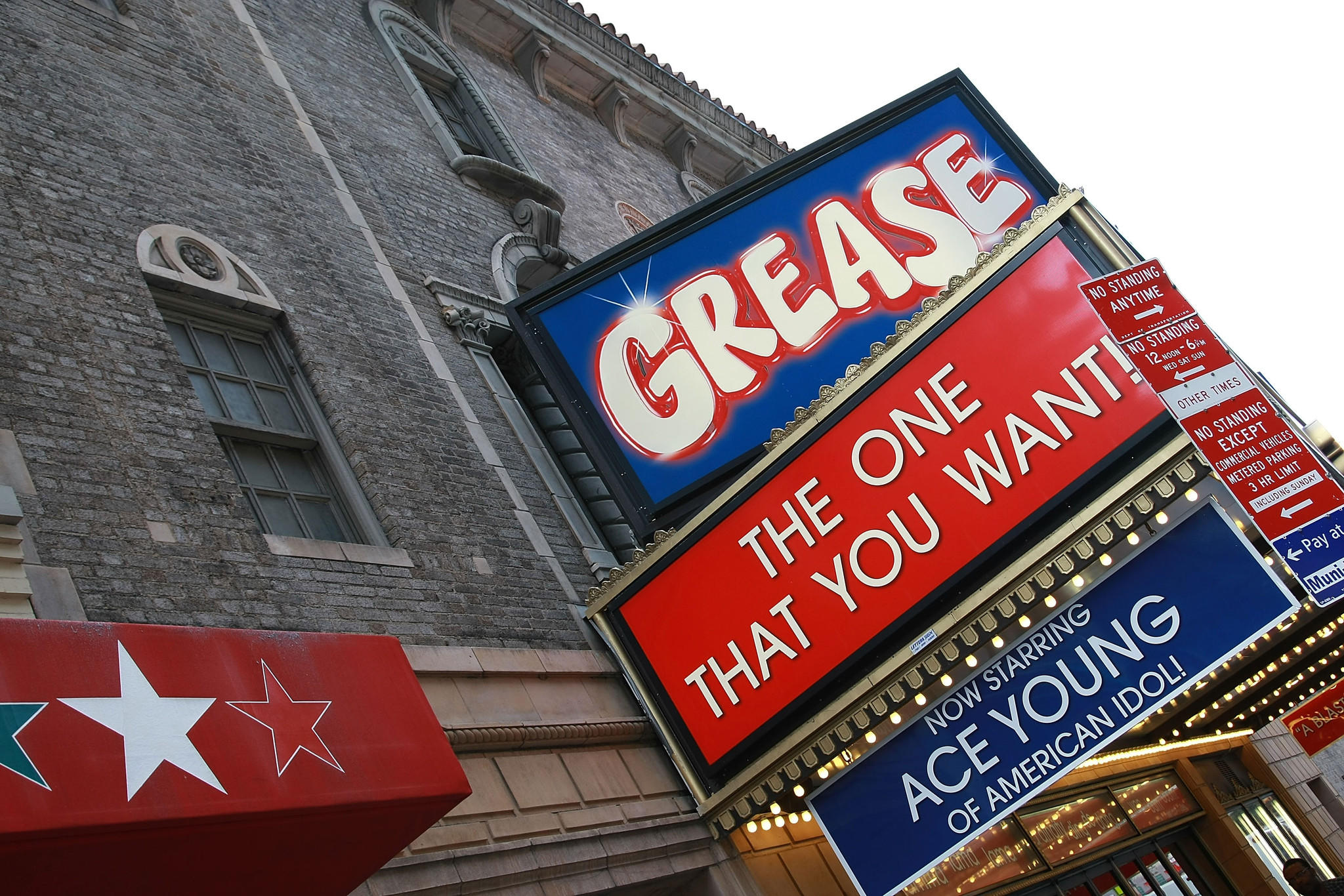 "The 2008 production of ""Grease"" starring Ace Young at the Brooks Atkinson Theatre in New York City."