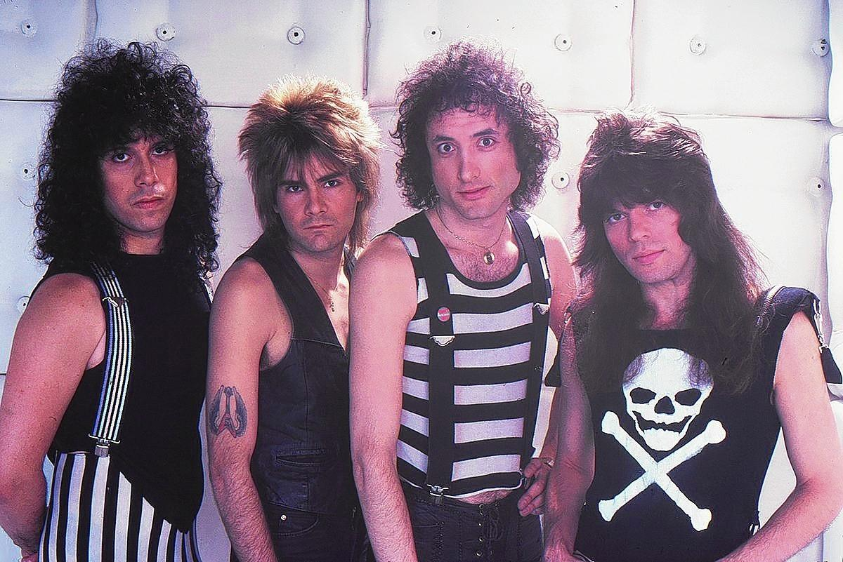 From left, Frankie Banali, Carlos Cavazo, Kevin DuBrow and Rudy Sarzo of Quiet Riot.