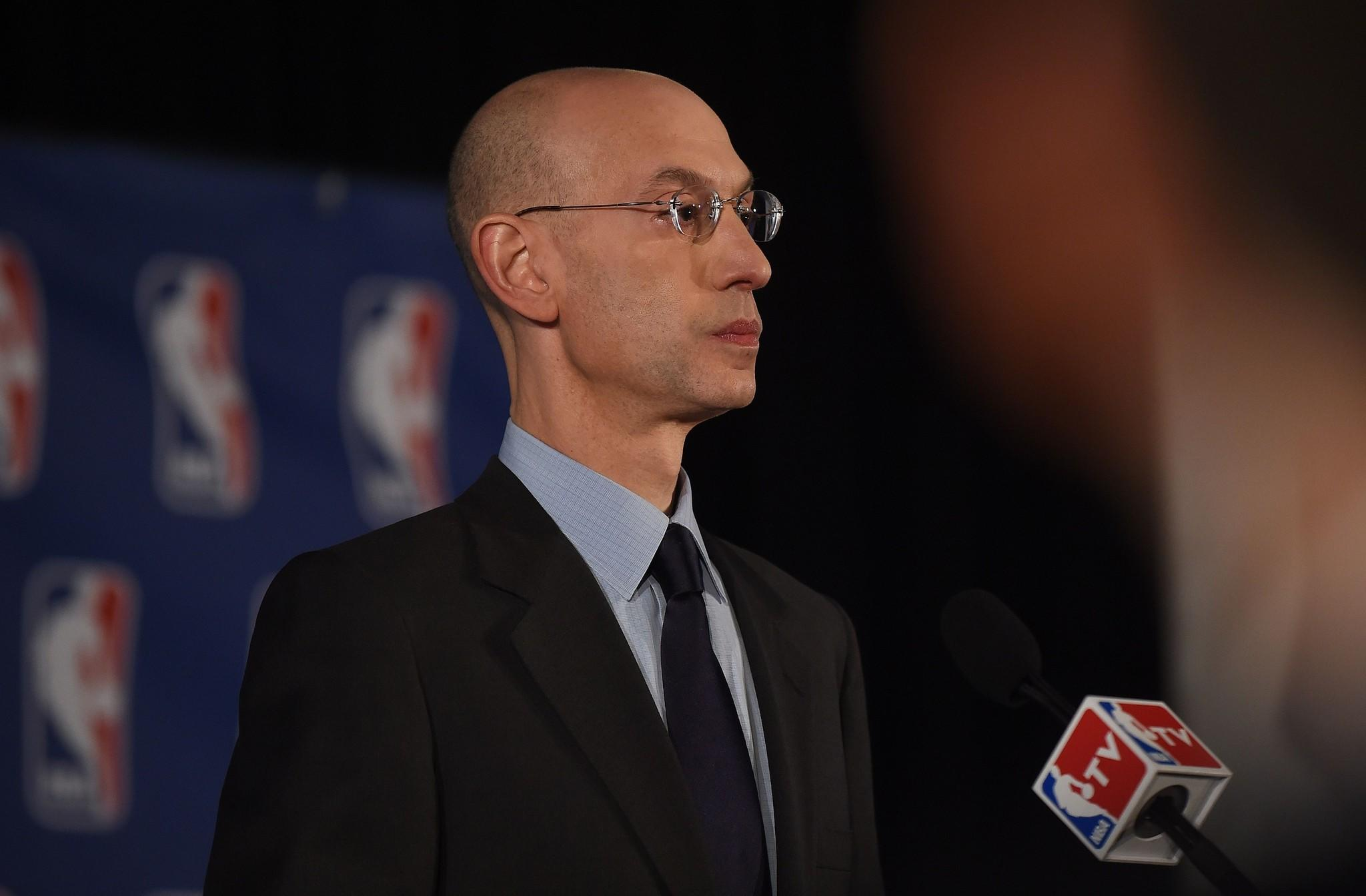 NBA Commissioner Adam Silver during his Tuesday press conference.