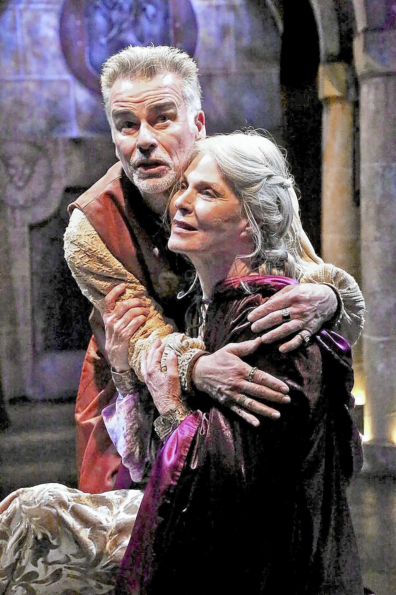 "Ian Buchanan and Mariette Hartley star in ""The Lion in Winter."""