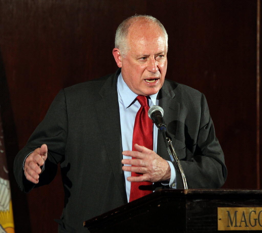 Cook County prosecutors are looking into a troubled grant program pushed by Democratic Gov. Pat Quinn as he sought re-election in 2010. Quinn is seen here Monday giving a speech to the City Club of Chicago.