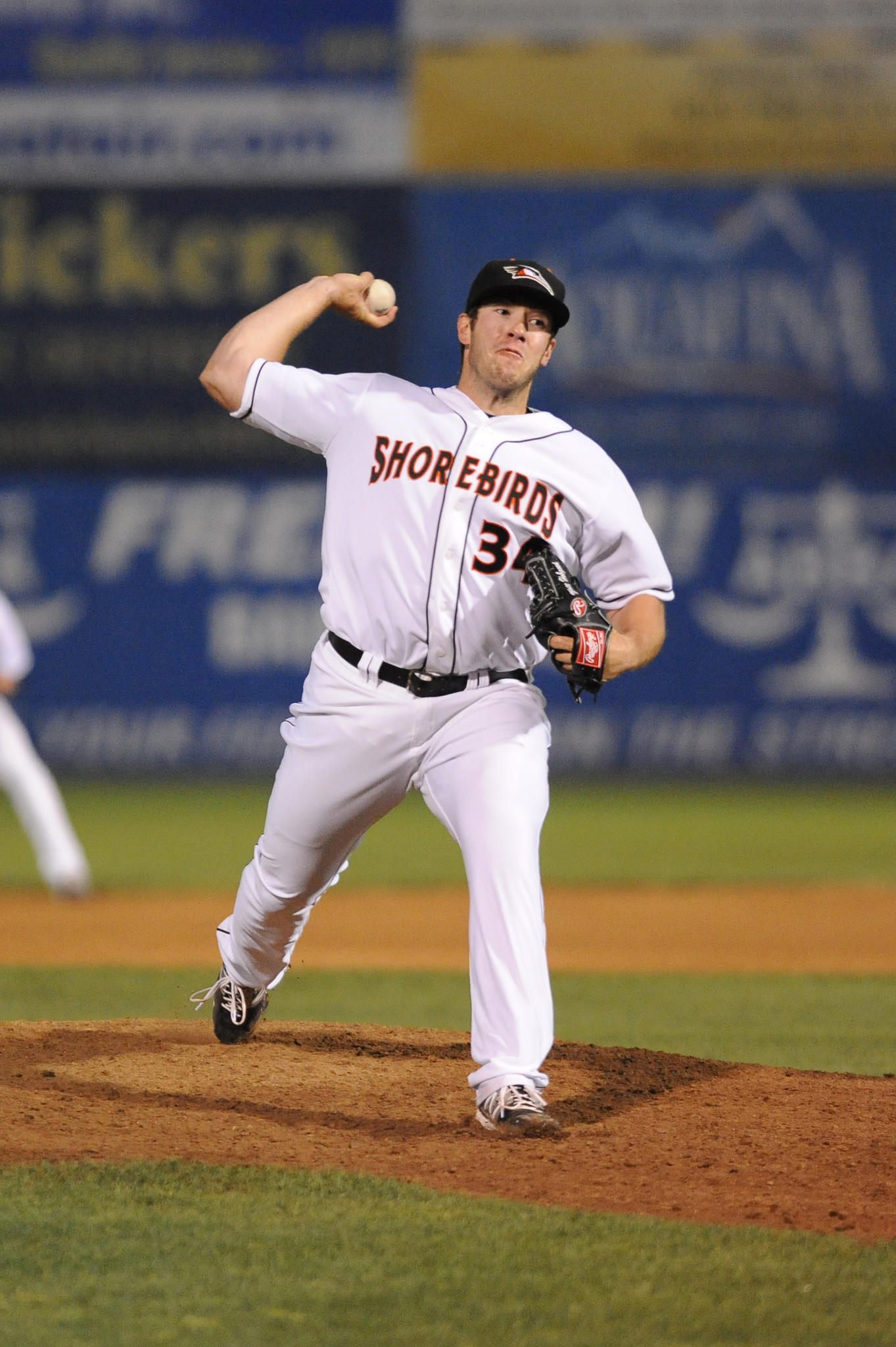 Matt Hobgood is shown pitching last year with Delmarva. He's had a strong start at Frederick this season.